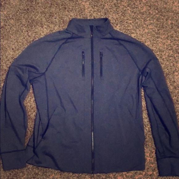 afe506888 Men's Lululemon Zip up Jacket - Gray/Navy Blue XXL